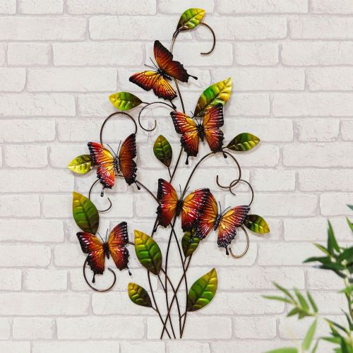 Butterfly Metal Wall Art Ornament For Home and Garden